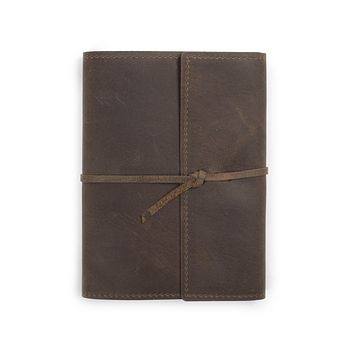Writers Log Large Refillable Leather Notebook
