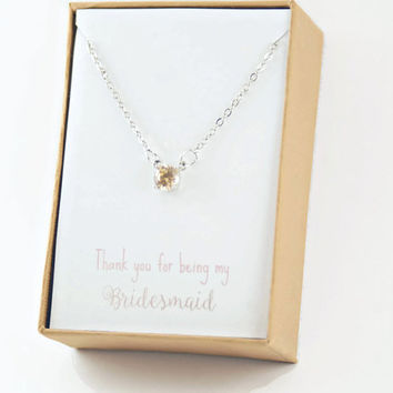 Bridesmaid necklace,Bridesmaid Gift,personalized wedding,champagne necklace,Maid of Honor Gift,Rustic Wedding,will you be my bridesmaid
