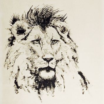 Lion Pen & Ink Drawing