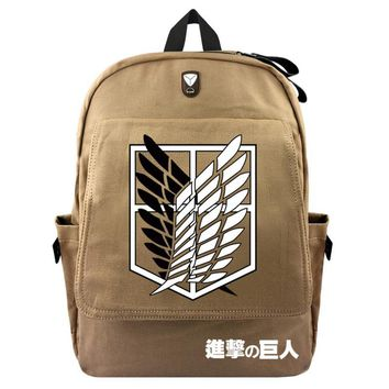 Cool Attack on Titan  Canvas Backpack No  School Laptop Backpacks Japanese Cosplay Schoolbag Knapsack Scouting Legion AT_90_11