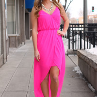 Oh, Beautiful Day Maxi - Hot Pink