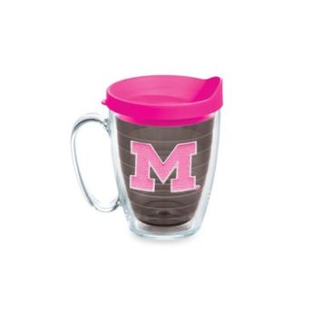 Tervis® University of Michigan 15-Ounce Colored Emblem Mug with Lid in Neon Pink