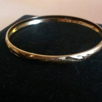 REDUCED PRICE-Vintage Mexican 14k Gold Bangle BraceletBlack Friday Cyber Monday Prices Marked 15 % OFF