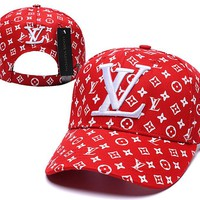 Red LV Stylish Golf Baseball Cap Hat