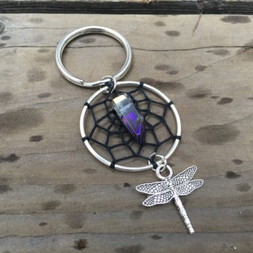 Dragonfly Dream Catcher Keychain