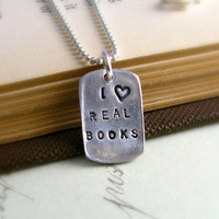Teacher Necklace Book Lover by newhopebeading