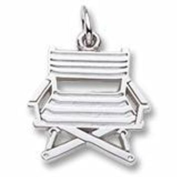 Directors Chair Charm In 14K White Gold