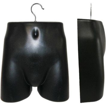 MN-281 Plastic Male Lower Torso (Hip) Hanging Form with Metal Hook