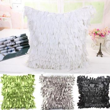 Hot Fallen Leaves Feather Pillow Case Couch Cushion Cover Home Decor Sofa Throw