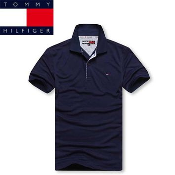 hot sale tommy hilfiger men polo shirt 100 cotton top