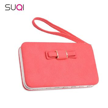 SUQI Women Wallet Luxury Brand Ladies Pu Leather Purse For Women Christmas Gift Portefeuille Femme