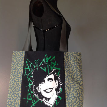 THE ADICTS - Upcycled Rock T-Shirt Diaper Bag/ Tote - ooak