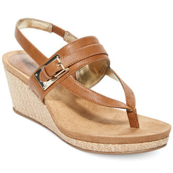 Style&co. Jodii Platform Wedge Thong Sandals