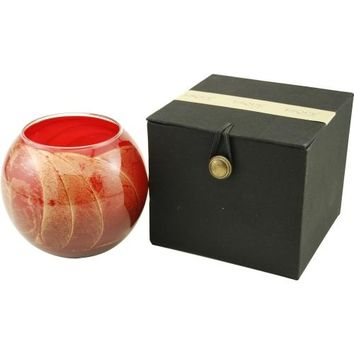 CRANBERRY CANDLE GLOBE by CRANBERRY CANDLE GLOBE THE INSIDE OF THIS 4 in POLISHED GLOBE IS PAINTED WITH WAX TO CREATE SWIRLS OF GOLD AND RICH HUES AND COMES IN A SATIN COVERED GIFT BOX. CANDLE IS FILLED WITH A TRANSLUCENT WAX AND SCENTED WITH MYSTERIA. BU