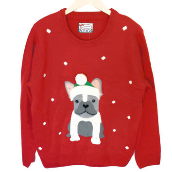French Bulldog Light Up Tacky Ugly Christmas Sweater