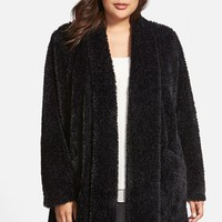 Plus Size Women's Kenneth Cole New York 'Teddy Bear' Faux Fur Clutch Coat,