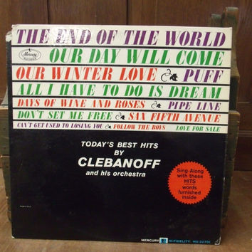 Today's Best Hits by Clebanoff and His Orchesta Vinyl Record Album Classical LP