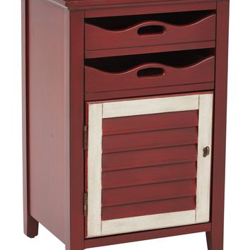 Office Star Vintage Wine Charlotte Chair Side Table