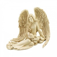 Comforting Angel With A Child Statue