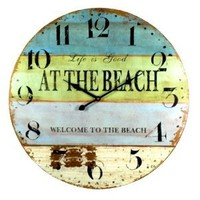 Life is Good at the Beach Coastal Decor Extra Large Wall Clock - 23-in