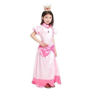 PEAPON M-XL Kids Girls Super Mario Bro Peach Princess Costume Co  sc 1 st  wanelo.co & Best Mario And Princess Peach Products on Wanelo