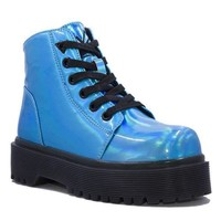 Slayr Atlantis Boots- Blue Hologram