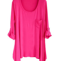 *Free Shipping* Women Cotton Rose Loose Top HT10000ro from efoxcity