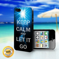 Disney Frozen Keep Calm And Let It Go - For iPhone 4/4s, iPhone 5, iPhone 5s, iPhone 5c case. Please choose the option