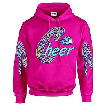 Love Cheer Cheerleader Hooded Sweatshirt