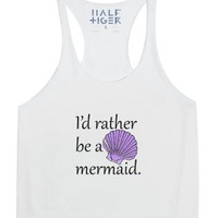 I'd Rather Be A Mermaid-Female Snow Tank