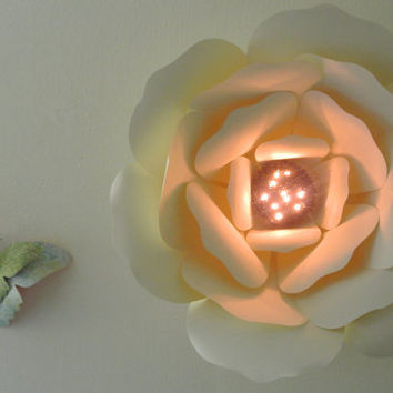 Giant Paper Flower with LED lighting / Wall Decor / Backdrop / Nursery Decor /