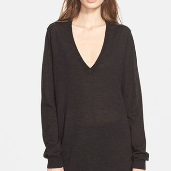 Women's Zadig & Voltaire 'Rea' Merino Wool V-Neck Tunic Dress,