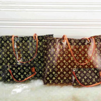 Louis Vuitton Louis Vuitton casual, printed, transparent bucket shoulder bag