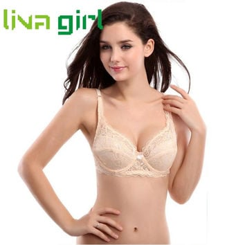 Sexy Lingerie Bralette Women Fashion Push Up Bras Ultrathin Underwire Lady Padded Lace Brassiere Bra Appliques Underwear Nov30