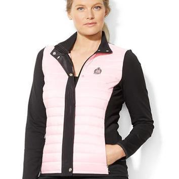 Lauren Ralph Lauren Plus Quilted Color Blocked Jacket