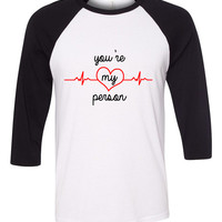 "Grey's Anatomy ""You're My Person"" Baseball Tee"