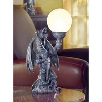 Dragon With Globe Table Lamp