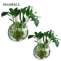 Hoomall Creative Dual Use Wall Hanging Flower Pot  Fish bowl Acrylic Planter Basket Vase Container Decoration Terrarium
