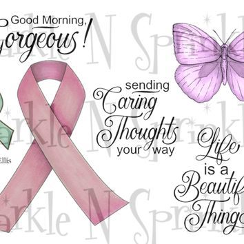 Ribbons of Love Rubber Stamp Set, 00-933P5