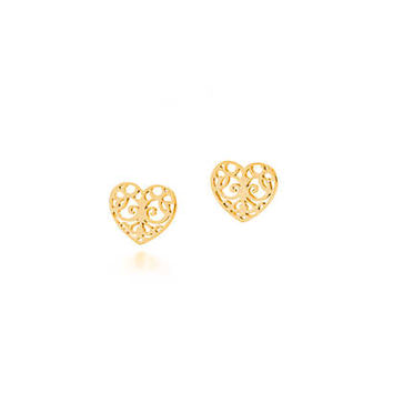Tiffany & Co. - Tiffany Enchant® heart earrings in 18k gold.
