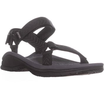 JSport by Jambu Navajo-Water Ready Sport Sandals, Black, 7.5 US / 38 EU