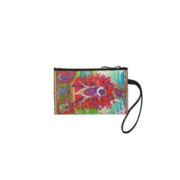 Cool oriental tibetan thangka tattoo Ekajati art Change Purse from Zazzle.com
