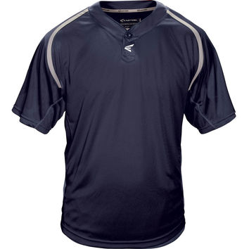 Easton M7 Homeplate Two-Button Baseball Jersey - Navy Gray