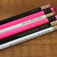 Mean Girls Quotes 6 Pack That was so Fetch Boo You Whore Pencil Set