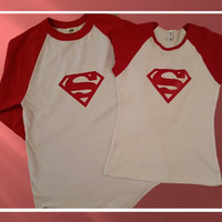 Disney Inspired Couples Baseball TShirtsSuperman and Superwoman
