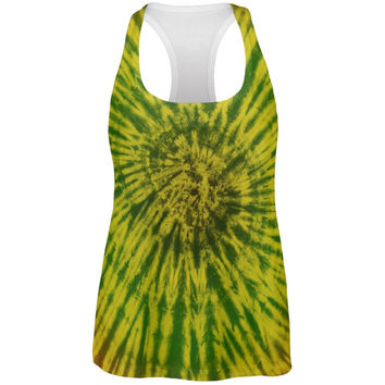 Rasta Tie Dye All Over Womens Work Out Tank Top