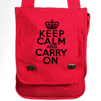 Keep Calm and Carry On Messenger Bag - Game Field Bag
