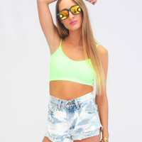 Mixology - Neon Bralet in Green