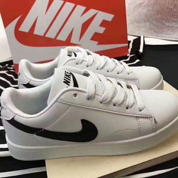 """Nike Blazer"" Unisex Casual Low Help Plate Shoes Couple Small White Shoes Sneakers"