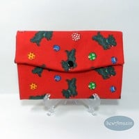 Playful Scotty Dogs Wallet, Scottish Terrier Wallet